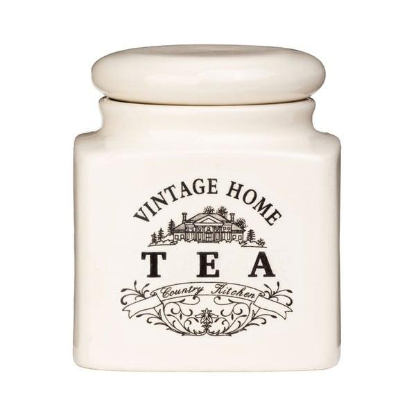 Kremowy pojemnik na herbatę Premier Housewares Vintage Home