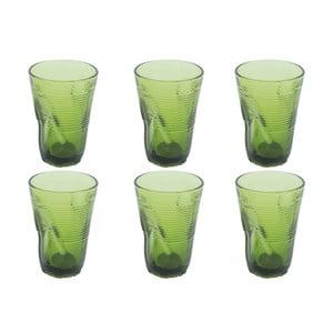 Zestaw 6 zielonych szklanek Kaleidos, 340ml