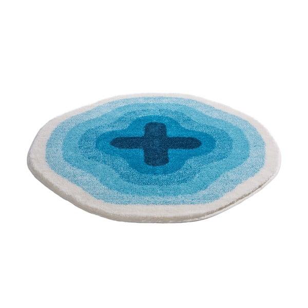 Dywanik łazienkowy Kolor My World III 90 cm, niebieski