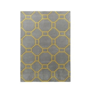Dywan Tile 90x150 cm, szaro-żółty