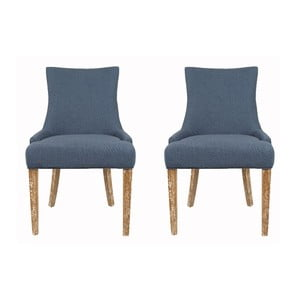 Zestaw 2 krzeseł Lester Blue