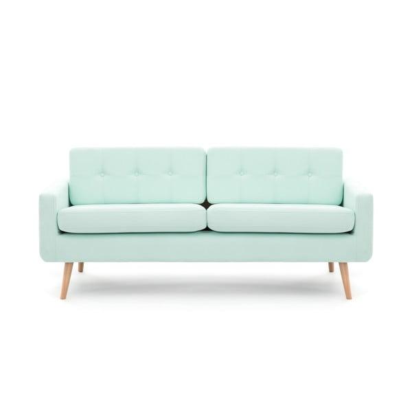 Pastelowo zielona sofa trzyosobowa VIVONITA Ina