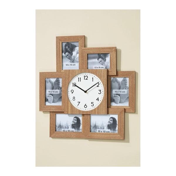 Zegar ścienny z ramkami na zdjęcia Frame