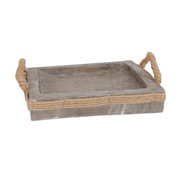 Taca drewniana Clayre & Eef, 31x31 cm