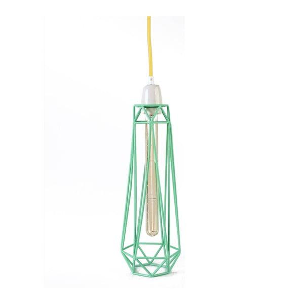 Miętowa lampa wisząca z żółtym kablem Filament Style Diamond #2