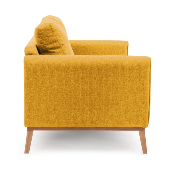 Musztardowa sofa trzyosobowa VIVONITA Milton