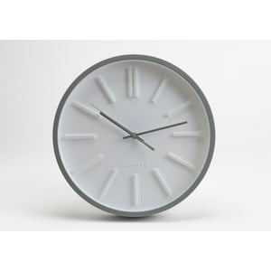 Zegar White Minimal, 36 cm