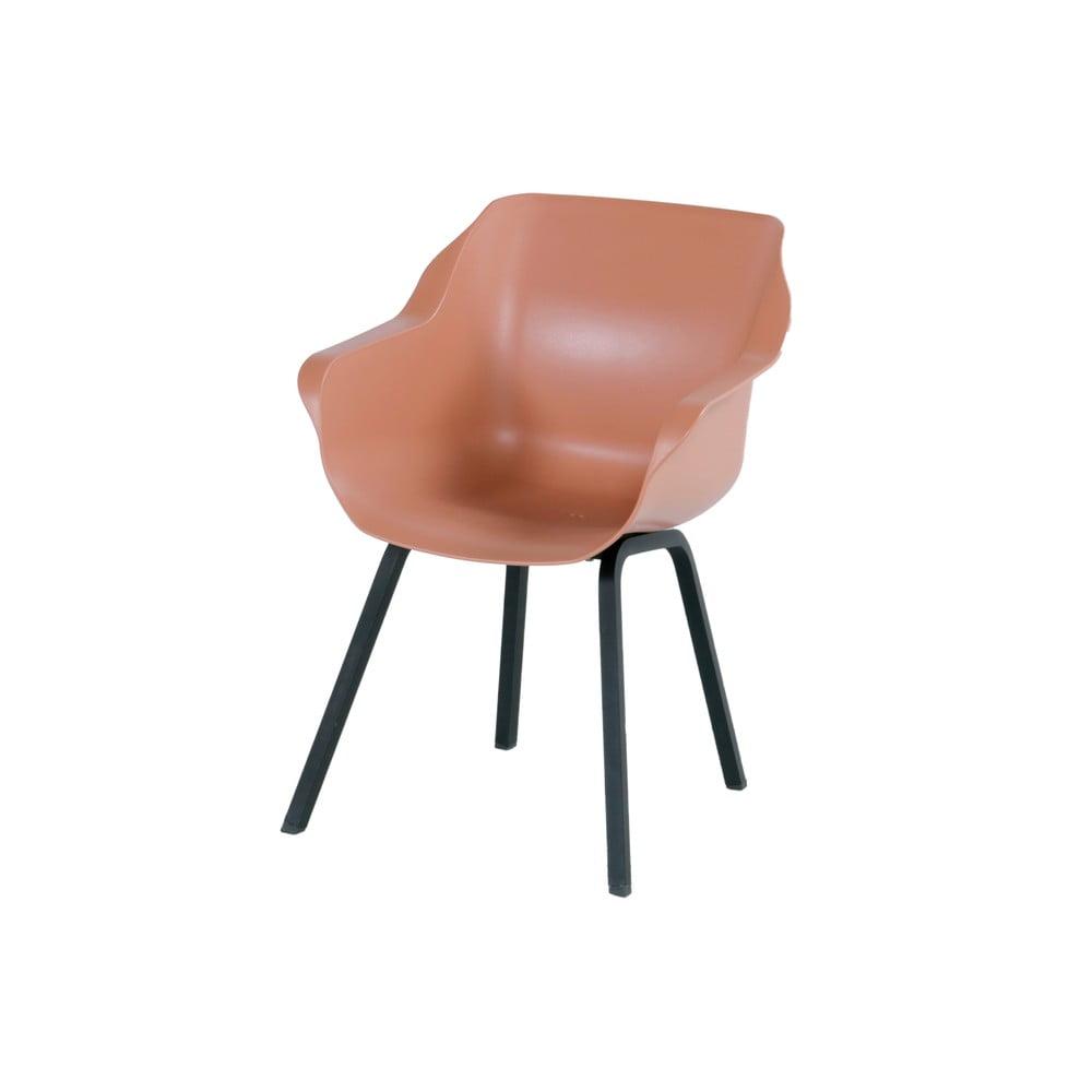 Zestaw 2 jasnopomarańczowych krzeseł ogrodowych Hartman Sophie
