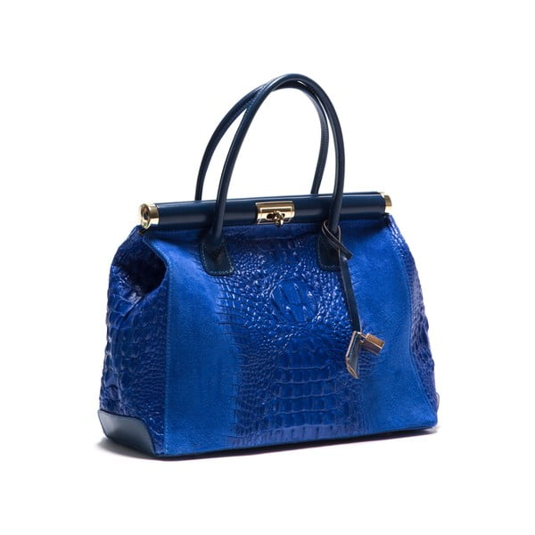 Skórzana torebka Anna Luchini 825 Bluette