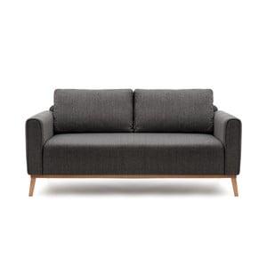 Grafitowa sofa trzyosobowa Vivonita Milton