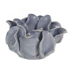 Ceramiczny świecznik Lotos, niebieski