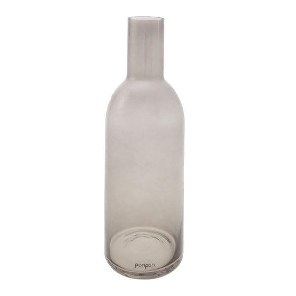 Wazon/świecznik Bottle 30,5 cm, szary