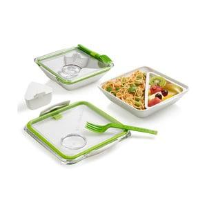 Biało-zielony pojemnik obiadowy Black + Blum Apetit