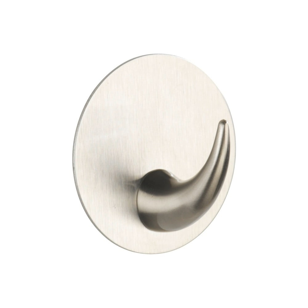 Samoprzylepny haczyk ścienny w srebrnej barwie Wenko Leuca