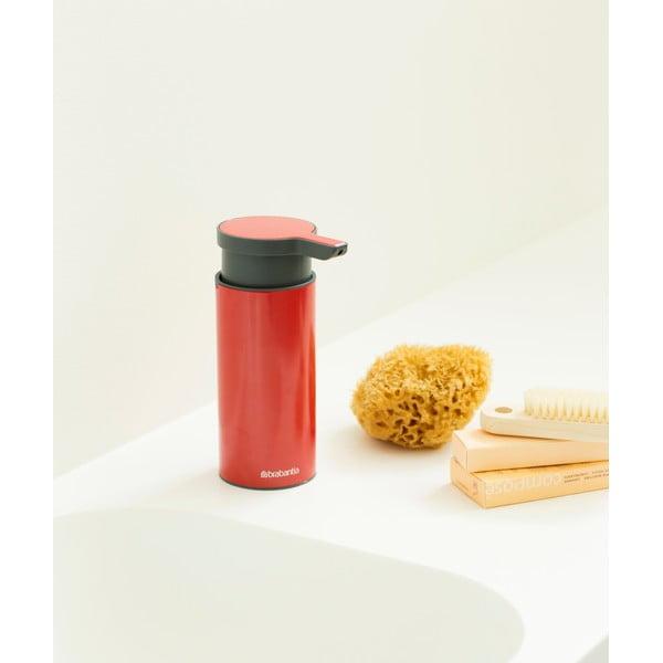 Czerwony dozownik do mydła Brabantia Hian