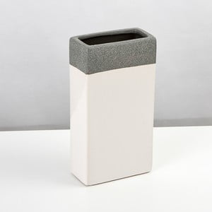 Ceramiczna waza Jungle Krem, 23,5x12,5 cm