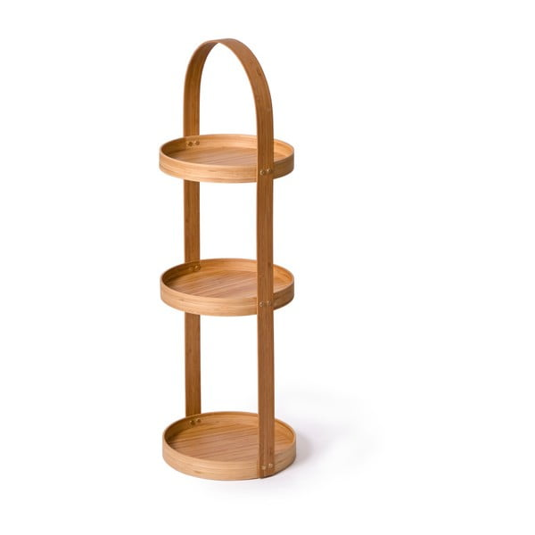 Stojak/szafka łazienkowa Caddy Bamboo, 3 półki