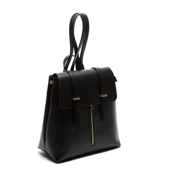 Czarny skórzany plecak Sofia Cardoni Noemi