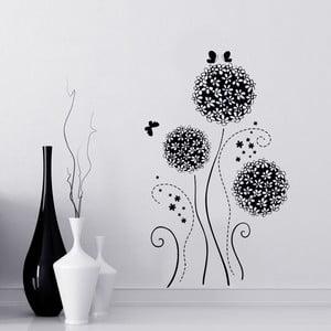 Naklejka ścienna Czarne kwiaty, 50x70 cm