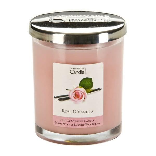 Świeczka o zapachu róży i wanilii Copenhagen Candles, czas palenia 40 godz.