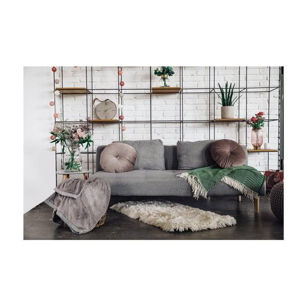 Szara rozkładana sofa loomi.design Matylda