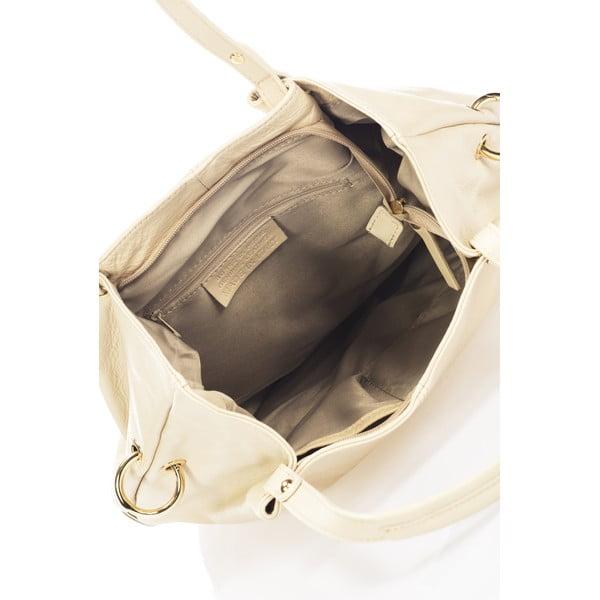 Skórzana torebka Piscila, beżowa
