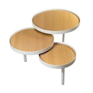Potrójny stolik kawowy Triplex Natural