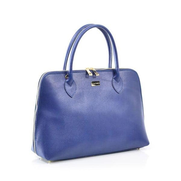 Skórzana torebka Dominique, niebieska