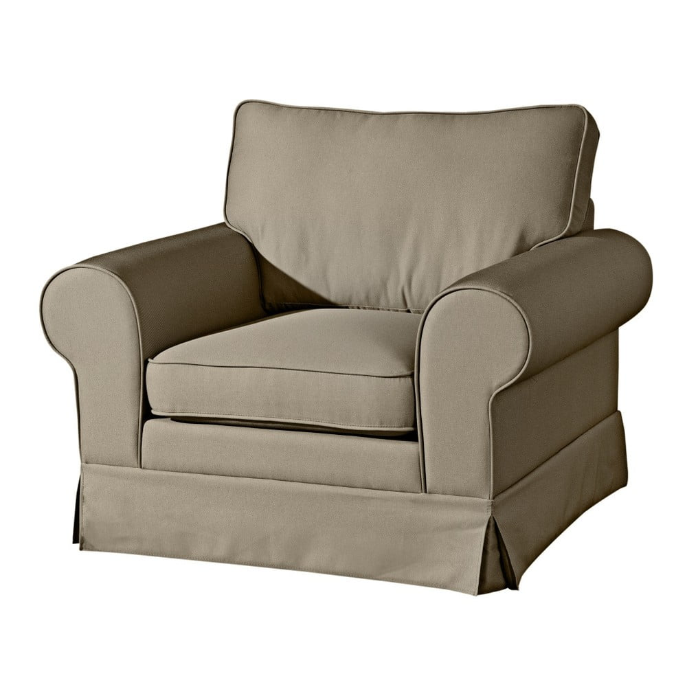 Beżowoszary fotel Max Winzer Hillary