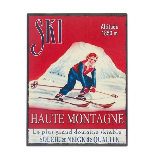 Tabliczka  Antic Line Ski,25x33cm