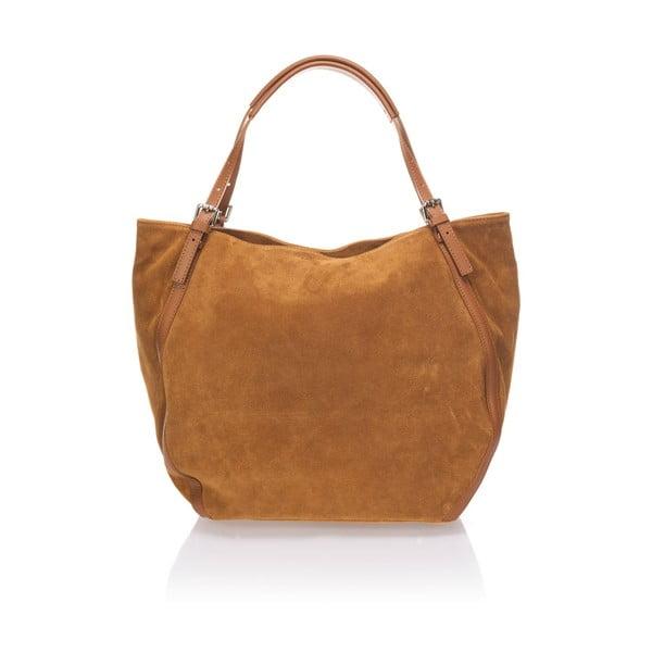 Skórzana torebka Krole Karin, koniakowa