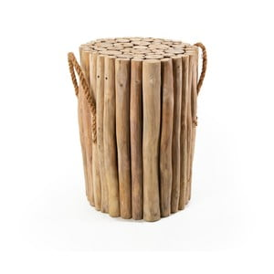 Drewniany stołek z uchwytami Moycor Marsella