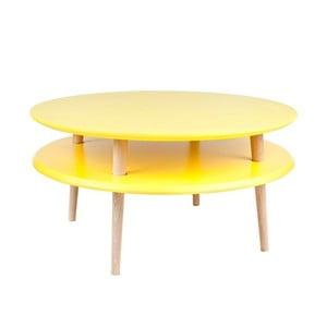 Żółty stolik Ragaba UFO, Ø 70 cm