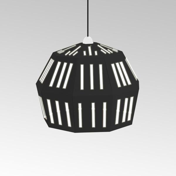 Kartonowa lampa Uno Fantasia C Black, z czarnym kablem