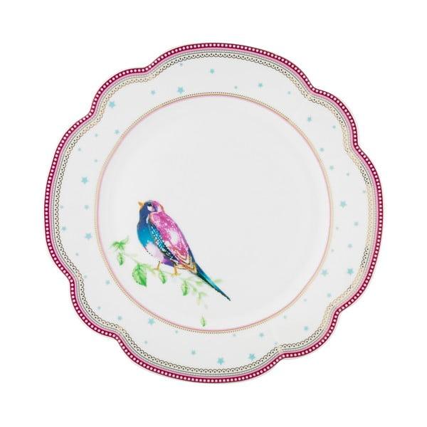 Porcelanowy talerz Birdie Lisbeth Dahl, 24 cm, 4 szt.