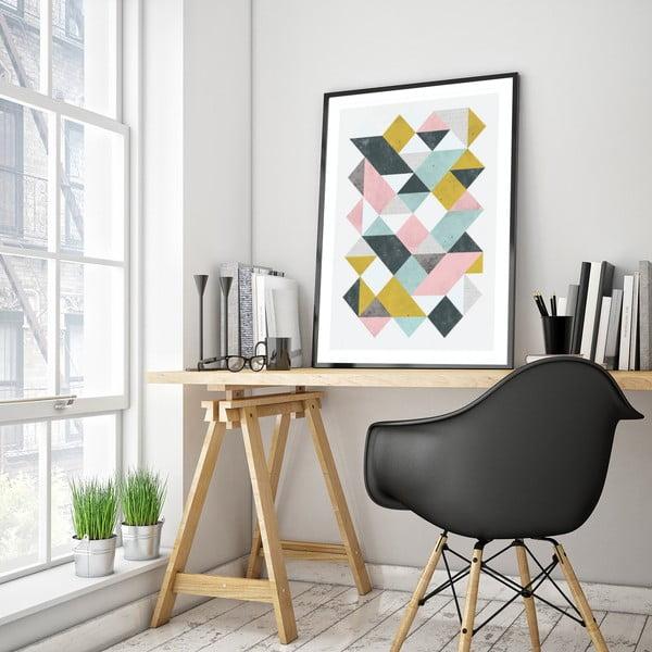 Plakat w drewnianej ramie , 38x28 cm