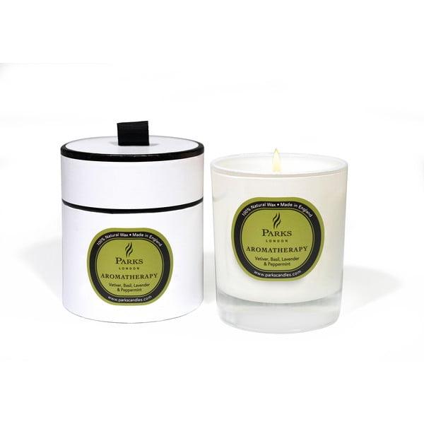 Świeczka Aromatherapy, zapach kadzidła wetywerii i bazylii