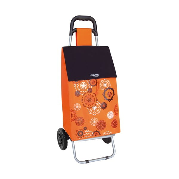 Torba na zakupy na kółkach Mandala Orange, 45 l