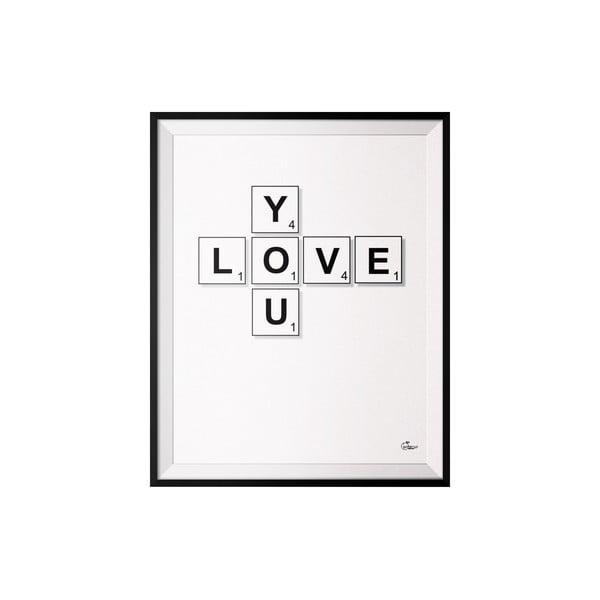 Plakat Scrabble, 40x50 cm
