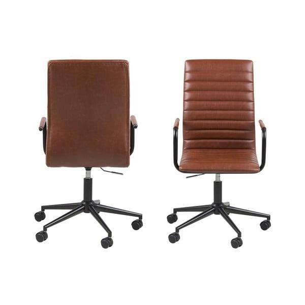Brązowy fotel biurowy Actona Winslow