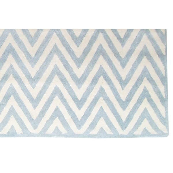 Dywan wełniany Ziggy Light Blue, 122x183 cm