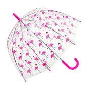 Dziecięcy parasol przezroczysty Ambiance Flamingo, ⌀ 70 cm
