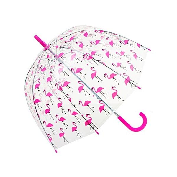 Dziecięcy parasol przezroczysty Flamingo