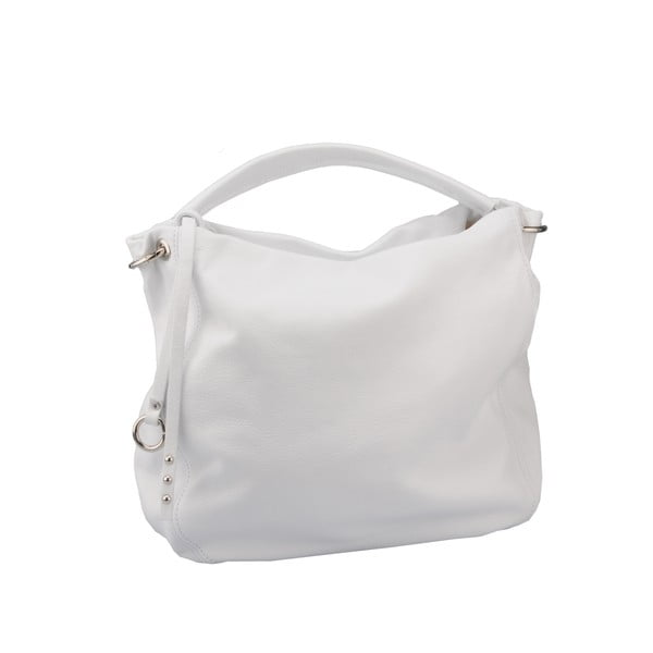 Skórzana torebka Agena, biała