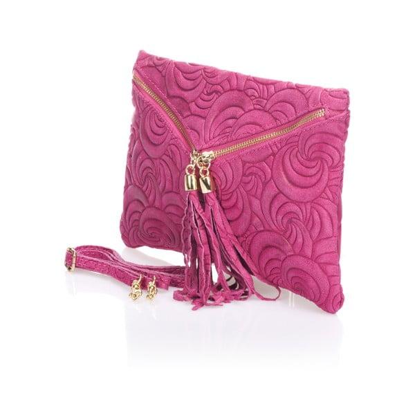 Skórzana kopertówka Flaire, różowa
