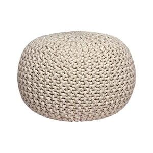 Kremowy puf dziergany LABEL51 Knitted