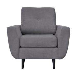 Szary fotel z ciemnymi nogami Mazzini Sofas Cedar