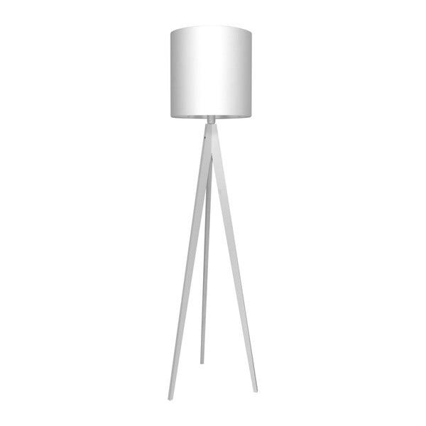 Biała lampa stojąca Artist, biała lakierowana brzoza, 158 cm