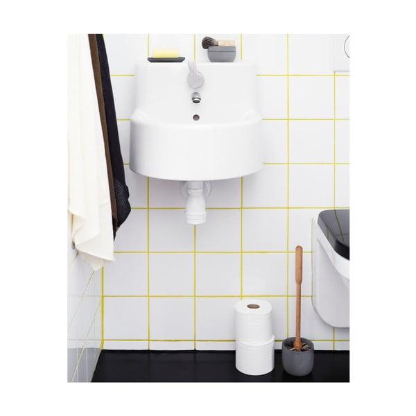 Szczotka toaletowa z pojemniczkiem z niebieskiego betonu Iris Hantverk