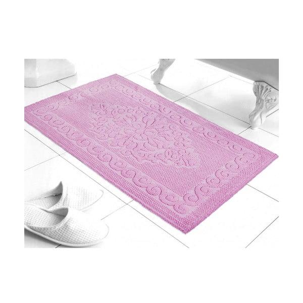 Mata łazienkowa Damask Pink, 60x100 cm